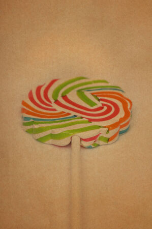 Vintage paper with lollipop image photo