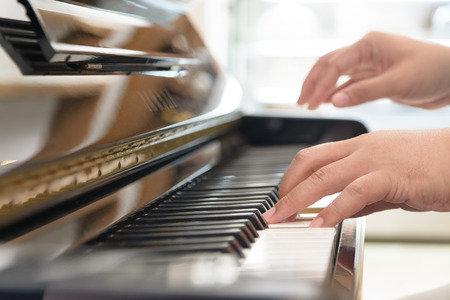 keyboard player: Playing classic piano