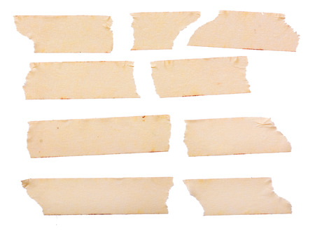vintage yellow paper tape Standard-Bild