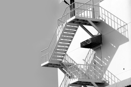 Outdoor White Steel Stair Stock Photo   31922650