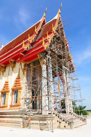 Thai temple under construction photo