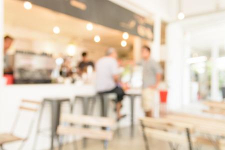 blur restaurant background