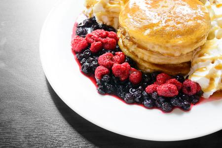 pancake: Sweet berry pancake Stock Photo