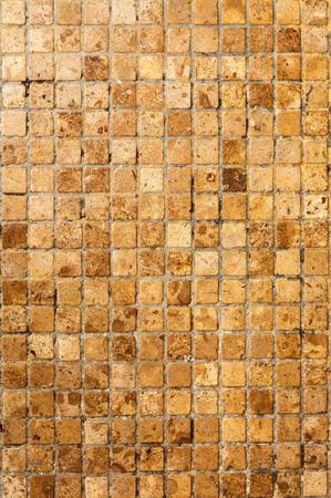 mosaic floor: Dirty yellow mosaic floor background texture Stock Photo
