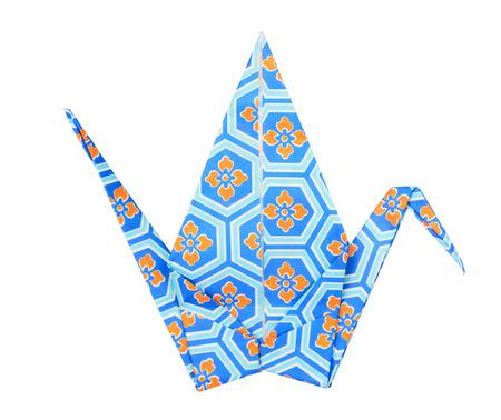 origami oiseau: Colorful origami oiseau traditionnel japonais