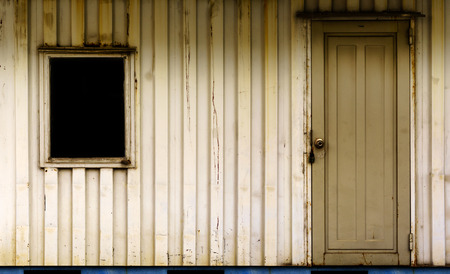 temporary: Cargo container temporary home Stock Photo