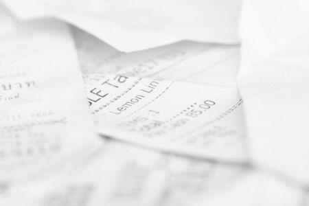 assort: Assort billing receipt on table