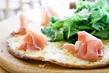 parma ham: Parma ham pizza Stock Photo