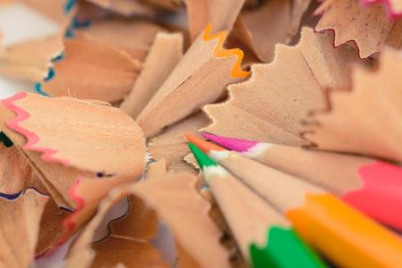 shavings: Vintage colorful pastel pencil shavings