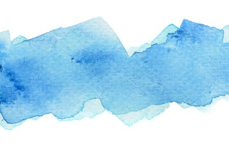 Vivid cold blue watercolor background