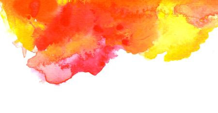 yellow orange: Vivid hot red orange yellow watercolor background
