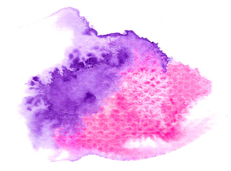 vivid: Vivid purple pink watercolor background Stock Photo