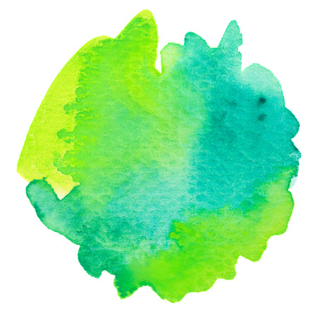 Vivid lime green watercolor background
