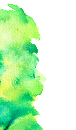lime green: Vivid lime green watercolor background