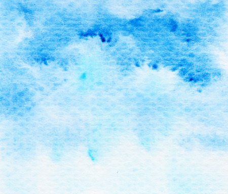 Blue  grunge watercolor background texture