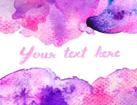 Copy space between purple pink water color background