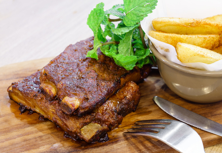 pork rib: Roasted pork rib