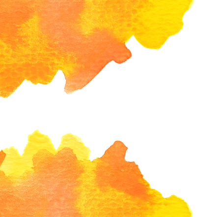 vibrant background: Copy space in orange water color background
