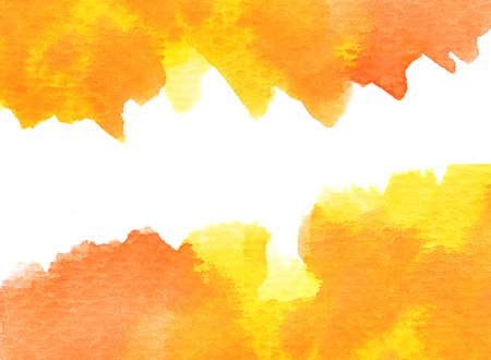 illustration background: Copy space in orange water color background
