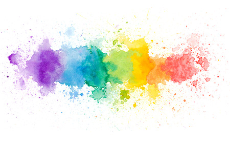vivid colors: Copy space in colorful water color background Stock Photo