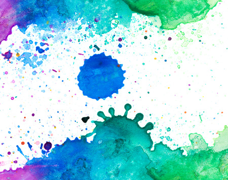 copy: Copy space in colorful water color background Stock Photo