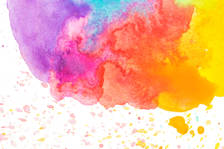 colorful paint: Colorful abstract watercolor background
