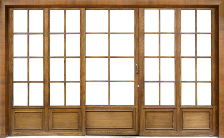 glass door: wooden glass door