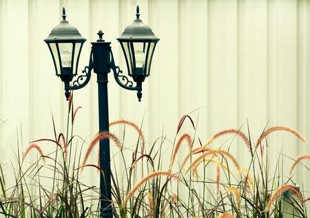 lamp post: Vintage classic black Lamp post background