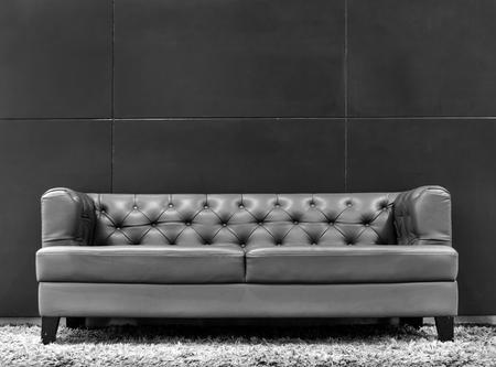 Modern gray sofa couch interior Stock Photo