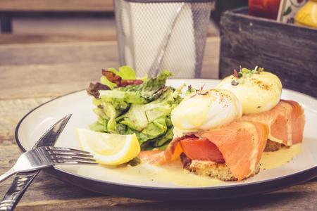 benedict: salmon egg benedict Stock Photo