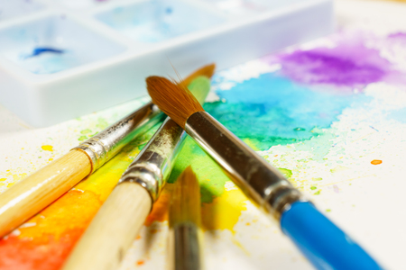 colorful abstract watercolor painting with