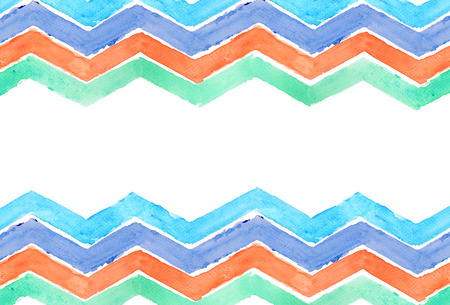 blue stripe: Water color of zigzag line geometry graphic pattern background