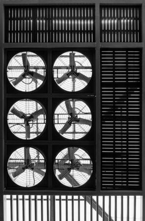 industry electronic: ventilators industry electronic fan on steel roof