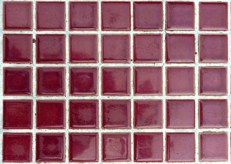 mosaic floor: Grunge dirty purple mosaic tile floor