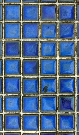 mosaic floor: Grunge dirty blue mosaic tile floor