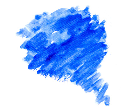 watercolor brush: Blue abstract water color brush stoke background texture Stock Photo