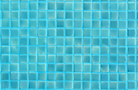 Blue green bathroom square wall mosaic tiles background texture Imagens