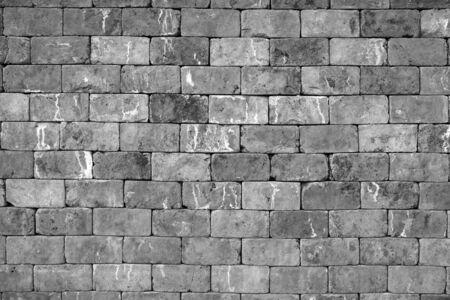 gray stone brick wall grunge background
