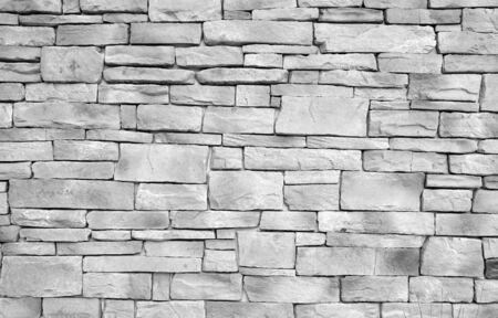 gray stone brick wall grunge background Imagens - 86180758