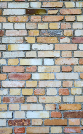 rusty orange brick wall background Imagens - 100378453
