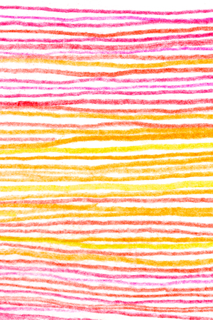 Messy hot color pencil drawing horizontal red yellow orange line background texture Imagens - 110962552