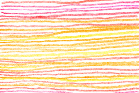 Messy hot color pencil drawing horizontal red yellow orange line background texture 版權商用圖片