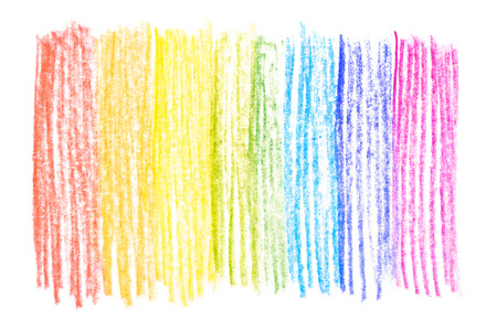 Rainbow messy color pencil drawing vertical line background texture