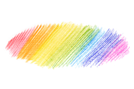 Oval messy color pencil drawing scribble line in oval shape texture Imagens - 110962560