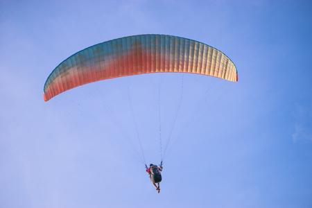 paraglider: Paraglider flies paraglider in the sky