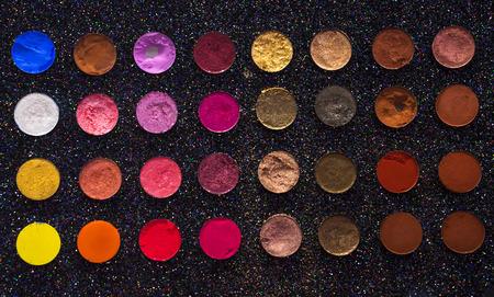 Color full eye shadow Stock Photo