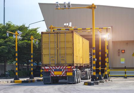 X-ray cargo Stock Photo
