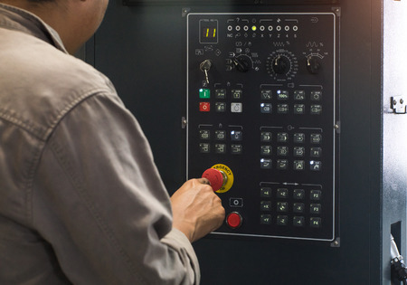 Controls the CNC milling machines using control panel with display