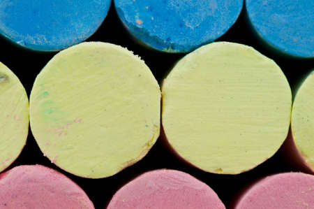 Chalks color background close-up front view. Stock Photo