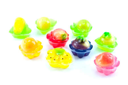 Colorful jelly isolated on white background